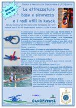 Le attrezzature base e sicurezza e i nodi utili in Kayak
