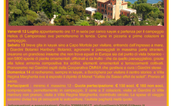 thumbnail of Volantino Giardini Hanbury e Bordighera