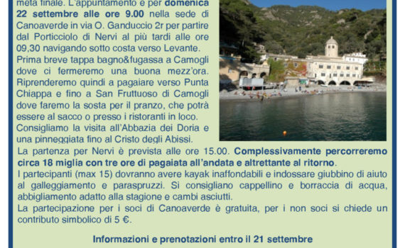 thumbnail of Volantino Camogli S.Fruttuoso
