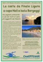 La costa da Finale Ligure a capo Noli e isola Bergeggi