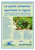Le piante alimentari spontanee in Liguria